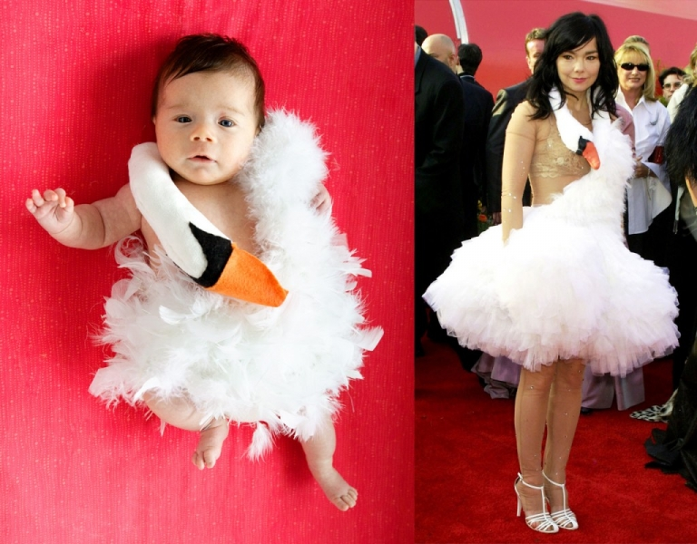 baby bjork swan dress halloween costume